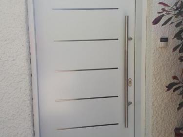 Porte blanche alu